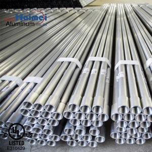 China Rigid Metal Aluminumelectrical ConduitPipe aluminium extrusion profile for electrical on sale