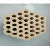 Best 12 Holes Checker Fire Clay Bricks , Lattice Insulating Fire Brick For Hot Blast Stove wholesale