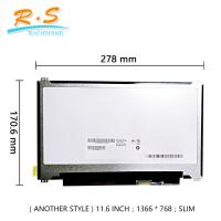 Buy cheap Laptop Screen Auo LCD Panel 1366 * 768 11.6 Inches Panel Size EDP Interface from wholesalers