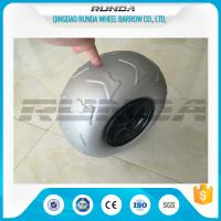 Best 9 Inch Pneumatic Rubber Wheels PP Rim , Balloon Hand Truck Wheels Without Bearing wholesale