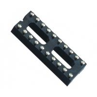 Best Black color  IC Socket 2*10P 180° H=3.0 Round female Header 7.62 with center bar ROHS wholesale