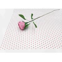 Best 17gsm Waxed Wrapping Dotted Tissue Paper Foil Tissue Paper Sheets Metallic Red Dot Pattern wholesale
