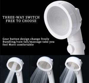 Best JK-2801 white color massage handheld showerheads high water pressure saving water three settings shower wholesale