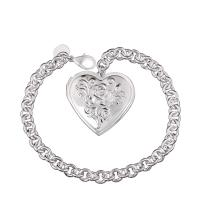 Best Stylish Wholesale Nickel&lead Free Women's Heart Shaped Pendant Charm Bracelet wholesale