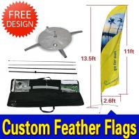 Best Custom Flying Banner Feather Flags Banner With Dye Sub Printing wholesale