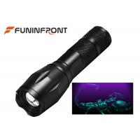 Best 3W High Power Black Light LED Flashlight 395NM Wavelength Adjustable Focus Torch wholesale
