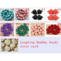 Cheap 10 - 30mm Colorful Semi Precious Gem Bead Natural Laughting Buddha Beads for sale