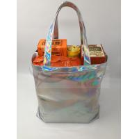 Cheap Fashionable Silver Holographic Bag , Laser PU Hologram Shopper Bag Special Design for sale