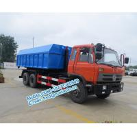 Best Hydraulic oil cylinder controlled orange color Dongfeng 6x4 20 ton used hook truck cheap price for sale wholesale