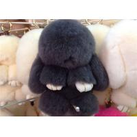 Best Luxury Colorful Fluffy Rabbit Keyring Portable For Handbag Charm Pendant wholesale