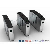 Cheap Stadiums Fingerprint Optical Turnstile / Entrance Turnstiles Swing Barrier Brushed for sale