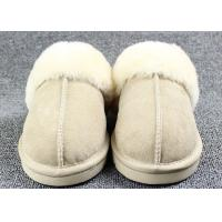 Cheap Luxury Men Merino Mens Fur Lined Slippers Comfortable With 7 -11 USA Sizes for sale