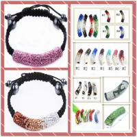 Best Charming Handmade Jewellery Clay Material Crystal Shamballa Beaded Bracelet wholesale