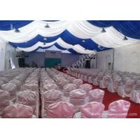 Quality White and Blue Top Lining Outdoor Party Tents Structure, aluminum profile wholesale