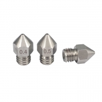 Best 0.3mm 0.5mm MK8 M6 3D Printer Nozzle Stainless Steel Material wholesale