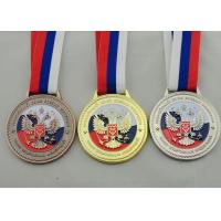 Best Die Casting 3D Boxing Ribbon Medals with High 3d And High Polishing for Company Promotional Gift wholesale