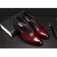 Best Color Blocking Classic Dress Shoes Fashion Upper With Leather And Suede Sewing Together wholesale