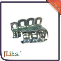 Best Zinc Galvanized Hydraulic Tube Saddle Clamps / Saddle Pipe Clips Vertical Without Rubber wholesale