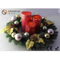 Best Advent Wreath With Led Candles Set Of 3 Blow On / Off Multi Function wholesale