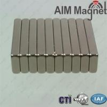 China Custom Size Power Permanent Sintered Neodymium Magnet block 26x14x4mm on sale