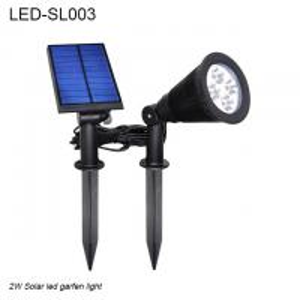 Best 2W IP44  black spike waterproof outdoor solar LED light & Solar led garden light wholesale