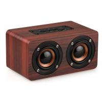 Cheap Retro Wood Bluetooth Speaker Wireless Speaker Support AUX TF Card for Smartphone for sale