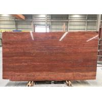 Best Red Travertine Natural Stone Tiles Countertop Use 20mm Big  Slabs Type wholesale