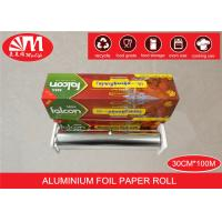 Cheap Recyclable Catering Aluminium Foil Roll 30cm X 15 Micron X100m Food Wrapping for sale