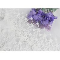 Best Wide Handmade Flower Embroidered Tulle Lace Trim For Winter Wedding Dressmaking wholesale