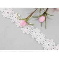 Best Daisy Venice Lace Trim Organic Cotton Padded Lace Trim Water Soluble Dress Ribbon wholesale