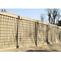 Best Army Defensive Barrier , Mesh Gabion Box Wall 4.0 Mm Spring Wire wholesale