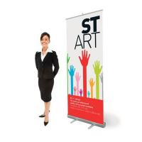 Cheap Classic Rolla Retractable Display Banners Including Printed banner and Aluminum for sale