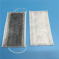 Best Latex Free Cleanroom Consumables Non Woven Carbon Face Mask 4 PLY Earloop wholesale