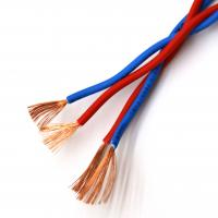 China Low Voltage Double Pvc Insulated Flexible Cable , RVS 2*1.5 Electric Cable Wire For Construction on sale