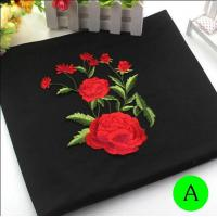 Best Polyester Embroidered Iron On Patches Appliques With Boutique Rose Flower 19*14 cm wholesale