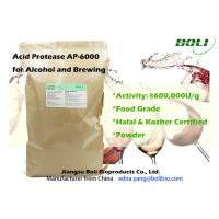 China High Concentration Powder Brewing Enzymes Acid Protease AP - 6000 Food Grade For Alcohol Brewing on sale
