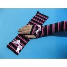 Best OEM eco-friendly Winter Cotton / polyamide Girls Long Fingerless Gloves Knitted Arm Warmer wholesale