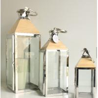 Best Indoor and outdoor gardengs home decoration theme wood stainless steel lantern wholesale