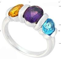 Best Citrine Amethyst and blue topaz ring wholesale