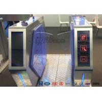Cheap Access Control Automatic Flap Barrier Gate Walk Through Optical Turnstile for sale