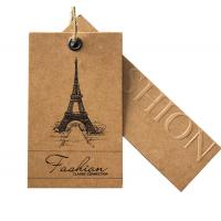 Best Kraft Paper Bespoke Clothing Labels , Custom T Shirt Labels Brown Solid Surface wholesale
