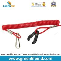 Best Popular Sales Solid Red Safety Durable Spiral Coil Rope Stretched 1M Outboard Motor Killcord wholesale