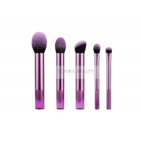 Best Luxurious Micro Fiber 5 Pieces Synthetic Makeup Brushes Foundation Makeup Brush Set wholesale