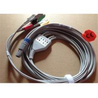 Best Petas 4 Lead ECG Patient Cable With 6 Pin Grabber / Pinch 0.7lb Weight wholesale