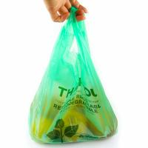 Best 40 % Bio Based Biodegradable Plastic Shopping Bags , Eco Friendly Plastic Bags wholesale
