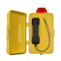 Best Yellow Industrial Analog Telephone / Weatherproof Analog Phone With Warning Lamp wholesale