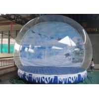 Best Giant Inflatable Snow Globe Logo Printing Eco Friendly With Colorful Base wholesale