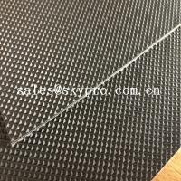 Best Wear Resistant Anti Static Mini Diamond Top Fabric PU / PVC Conveyor Belting wholesale