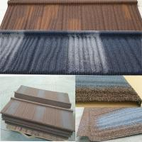 Buy cheap Long Lifespan Stone Coated Steel Roofing Tile Excellent Fire Resistance from wholesalers
