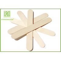 Best Craft Stick Plain Taster Ice Cream Wooden Sticks Ice Cream Paddle Spoon Paper Wrapped wholesale